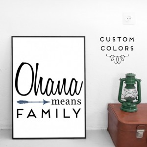 Mother's Day Gift Guide for Every Type of Mom - Angela Horn - Ohana Means Family 8 by 10 Art Print