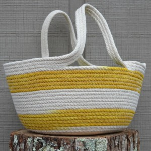 Mother's Day Gift Guide for Every Type of Mom - Angela Horn - Yellow Project Bag coiled rope basket with handles