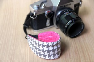 Unique Mother's Day Gifts Under 25 - Grey Houndstooth DSLR Camera Strap
