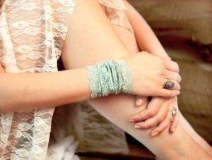 Unique Mother's Day Gifts Under 25 - Mint Lace Wrist Cuff Jewelry