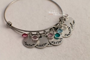 Unique Mother's Day Gifts Under 25 - Mother's Bracelet with Personalized Children's Names and Birthstones