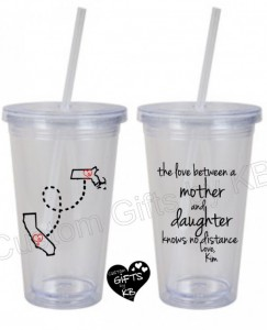"Unique Mother's Day Gifts Under 25 - Mother:Daughter ""Knows No Distance"" Matching Tumbler"