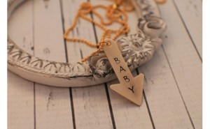 Unique Mother's Day Gifts Under 25 - New Mom Baby Arrow Necklace