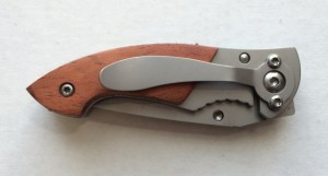 Extraordinary Father's Day Gifts - Custom Engraved Rosewood Pocket Knife with Belt Clip 02
