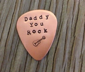 Extraordinary Father's Day Gifts - Personalized Copper Guitar Pick