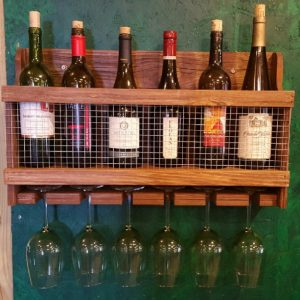Fathers Day - Handcrafted Wine Rack with Early American Finish