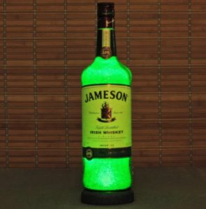 Fathers Day - Jameson Irish Whiskey Liquor Bottle Lamp Accent Light