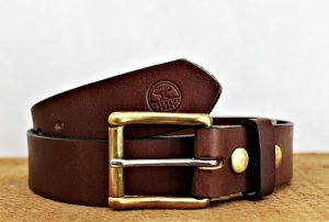 Fathers Day - Working Man's Quality Leather Belt with Interchangeable Buckle
