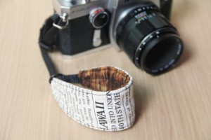 Handmade Gifts for Dad - DSLR Camera Wrist Strap - News Print