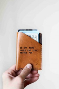 Handmade Gifts for Dad - Mens Leather Wallet, Custom Leather Wallet with custom quote or phrase