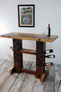 Handmade Gifts for Dad - Reclaimed Wood Wine Bar