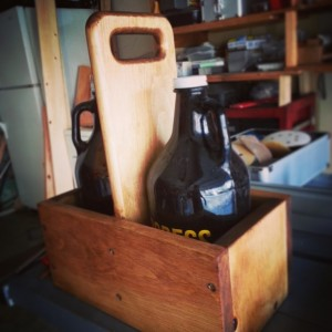 Handmade Gifts for Dad - Wooden Beer Growler holder