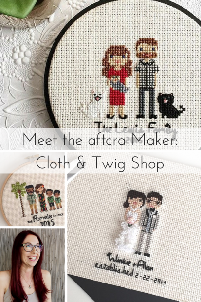 Meet the aftcra Maker- Cloth and Twig Shop - creator of custom family portraits and custom wedding portaits