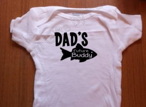 Under 25 Fathers Day - Daddy's Future Fishin Buddy Custom Onesie