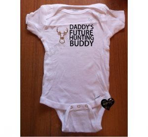 Under 25 Fathers Day - Daddy's Future Hunting Buddy Custom Onesie