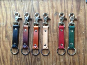 Under 25 Fathers Day - Handmade Leather Key Fob: Keyring