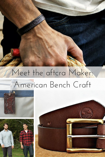 American Bench Craft - Meet the aftcra Maker- American Bench Craft - handcrafted Leather goods, wallets, belts, riveted leather bracelets, and luggage tags