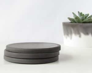 Black Concrete Coasters - Set of 3-Christmas-2015-Gifts-for-Him-Handmade-USA-Made-Gift-Ideas-For-Him