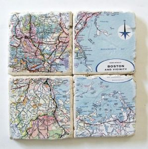 Boston Map Coasters-Christmas-2015-Gifts-for-Him-Handmade-USA-Made-Gift-Ideas-For-Him