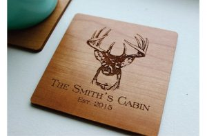 Custom Engraved Wooden Coasters Set of 6 Personalized-Christmas-2015-Gifts-for-Him-Handmade-USA-Made-Gift-Ideas-For-Him