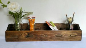 Desk organizer and mason jar holder
