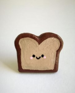 Handmade Brooch Toast Pin Bread Cute Kawaii-Christmas-2015-Gifts-for-Her-Handmade-USA-Made-Gift-Ideas-For-Her