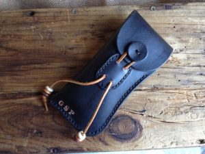 Handmade Leather Eyeglass Case Custom Monogram-Christmas-2015-Gifts-for-Him-Handmade-USA-Made-Gift-Ideas-For-Him