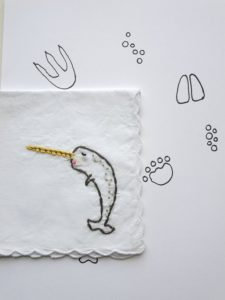 Narwhal Embroidered Handkerchief-Christmas-2015-Gifts-for-Her-Handmade-USA-Made-Gift-Ideas-For-Her