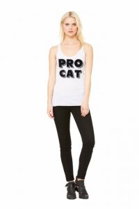 Pro Cat Funny Tank Top-Christmas-2015-Gifts-for-Her-Handmade-USA-Made-Gift-Ideas-For-Her