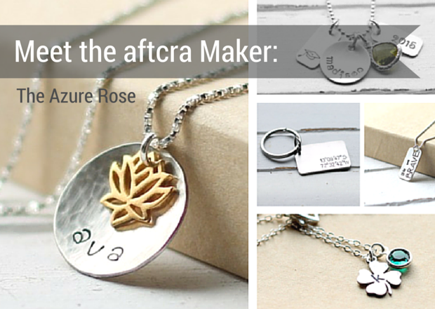 Meet the Maker - Genevieve of The Azure Rose on aftcra - Handmade Jewelry Made in the USA Hand Stamped Personal Custom Necklaces Dog Tags Keychains 20