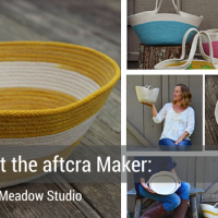 Meet the Maker - Little Meadow Studio - Market Totes, Harvest Baskets, Project Baskets, Handmade Gift Ideas Mothers Day Gifts 2016 Made in the USA 20