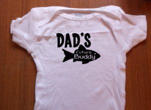Under 25 Fathers Day Daddy S Future Fishin Buddy Custom Onesie
